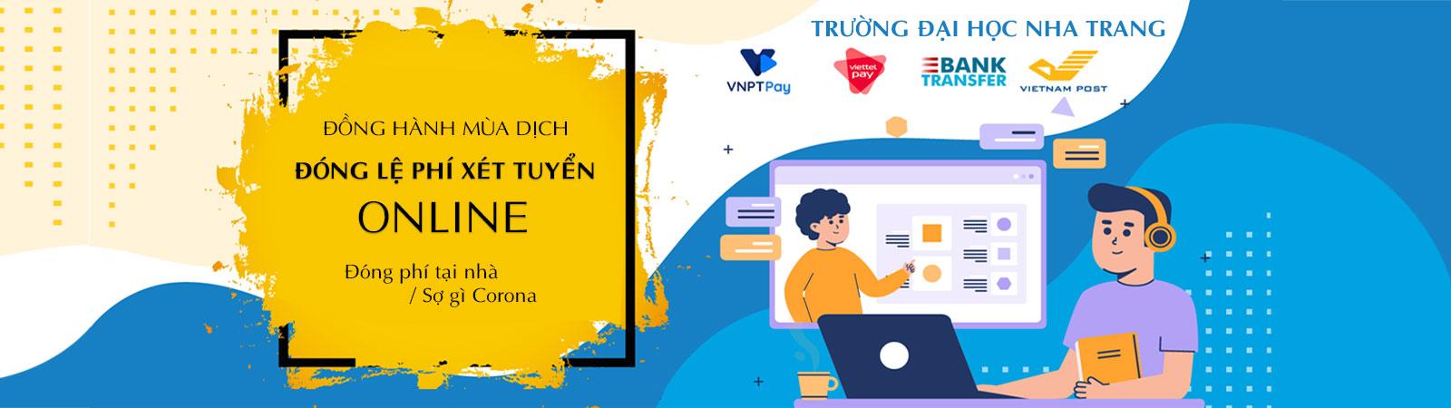 Đóng lệ phí xét tuyển Online Trường Đại học Nha Trang